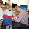 Jarosław Siek na spotkaniu z dziećmi