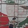 Lubaczów. Ruszyły prace nad wykonaniem muralu gen. Stanisława Dąbka