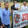 Protest przeciwko budowie spalarni śmieci w Zamościu