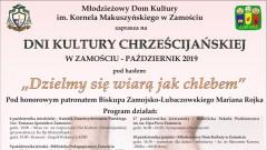 Dni Kultury Chrześcijańskiej w Zamościu 2019