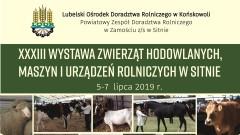 Wystawa Zwierząt Hodowlanych, Maszyn i Urządzeń Rolniczych w Sitnie 2019