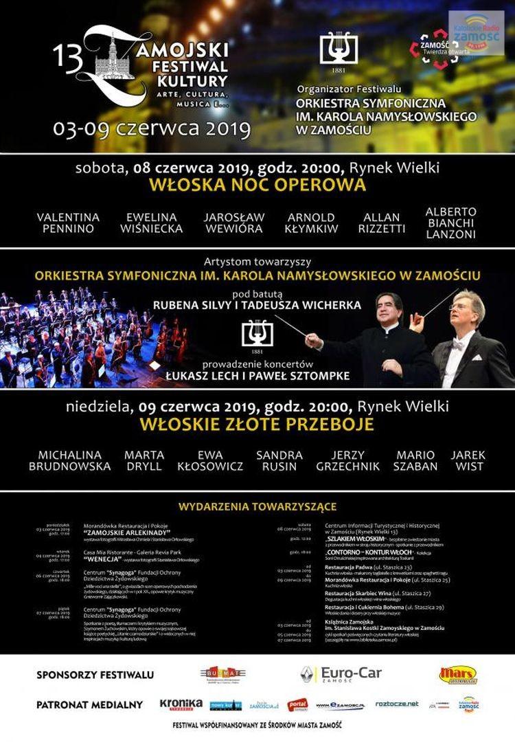 "13. Zamojski Festiwal Kultury ""arte, cultura, musica e..."""