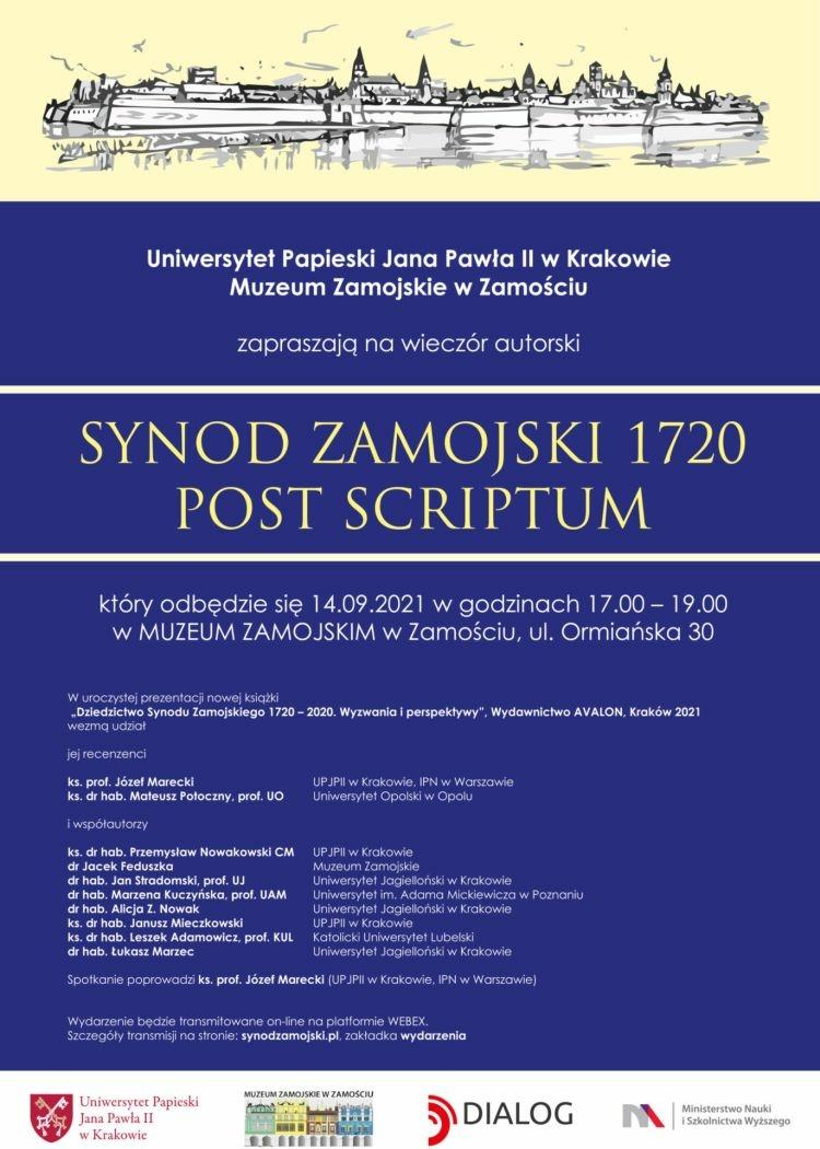 """""""Dziedzictwo Synodu Zamojskiego 1720 – 2020. Wyzwania i perspektywy"""""""
