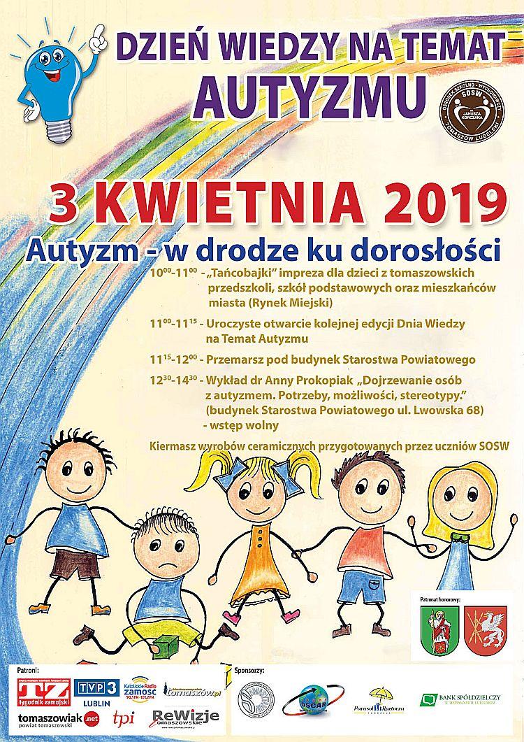 Dzień wiedzy na temat autyzmu 3.04.2019