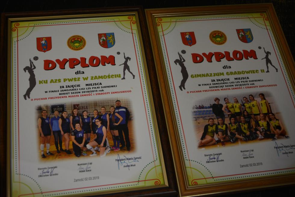 Finał Zamojskiej Ligi Piłki Siatkowej Dziewcząt i Kobiet