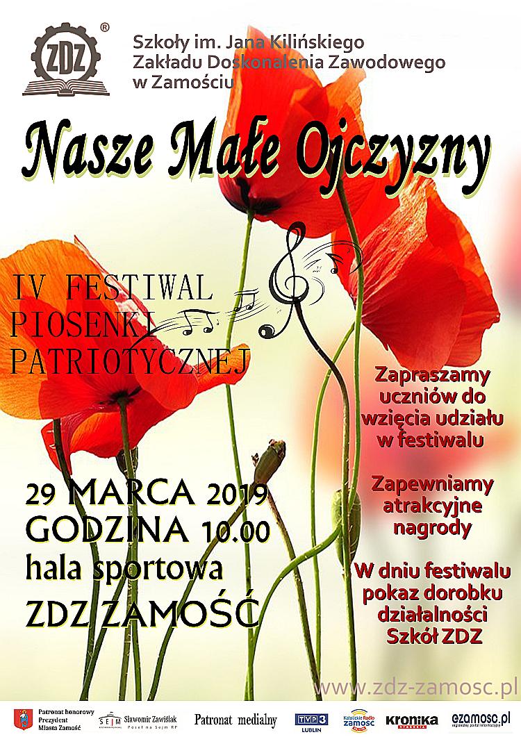 """IV Festiwal Piosenki Patriotycznej """"Nasze Małe Ojczyzny"""""""