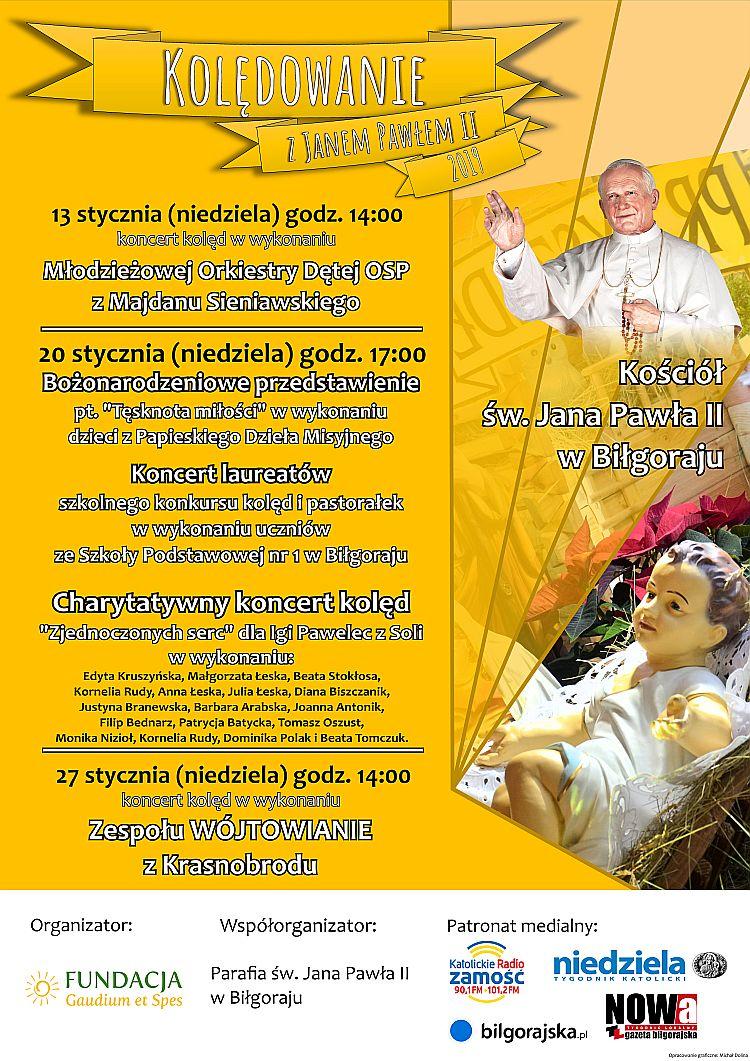 Kolędowanie z Janem Pawłem II w Biłgoraju 13.01.2019, 20.01.2019, 27.01.2019