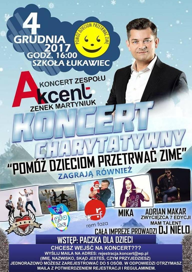 Koncert charytatywny w Łukawcu