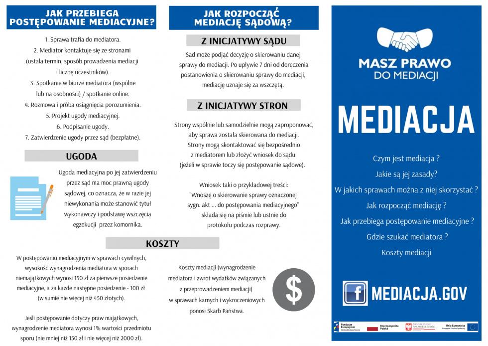 Konkurs na plakat promujący mediację