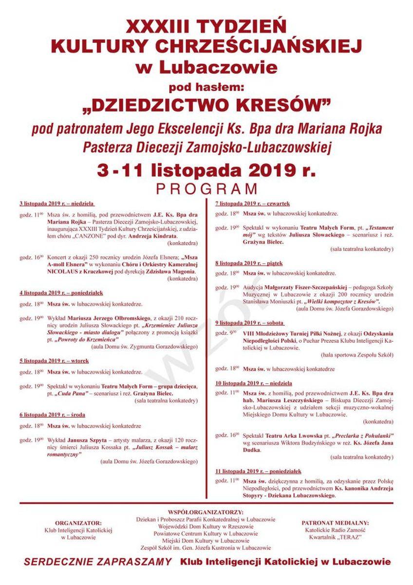 Listopadowe spotkanie z kulturą chrześcijańską w Lubaczowie
