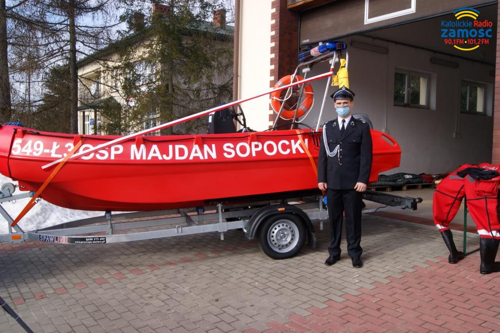 Łódź ratownicza w Majdanie Sopockim