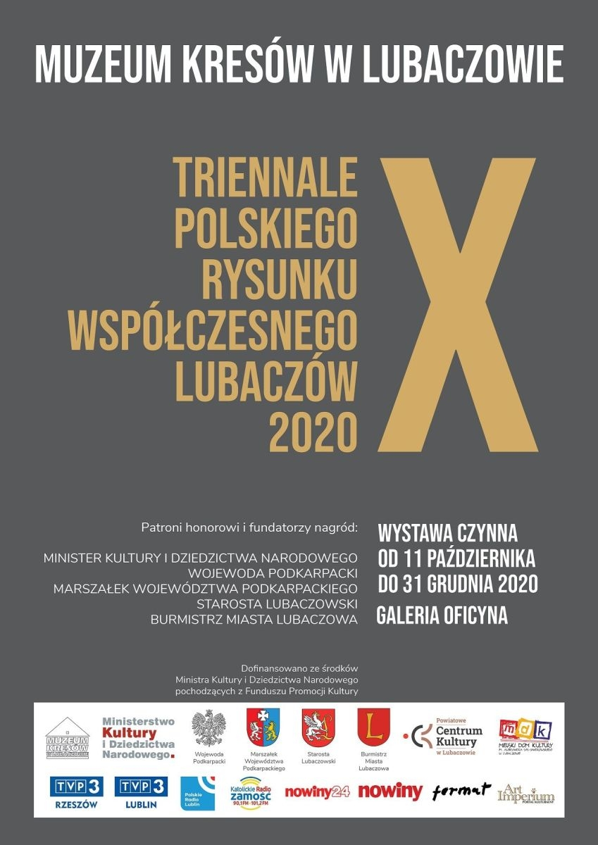 Lubaczów. Jubileuszowe X Triennale Polskiego Rysunku Współczesnego