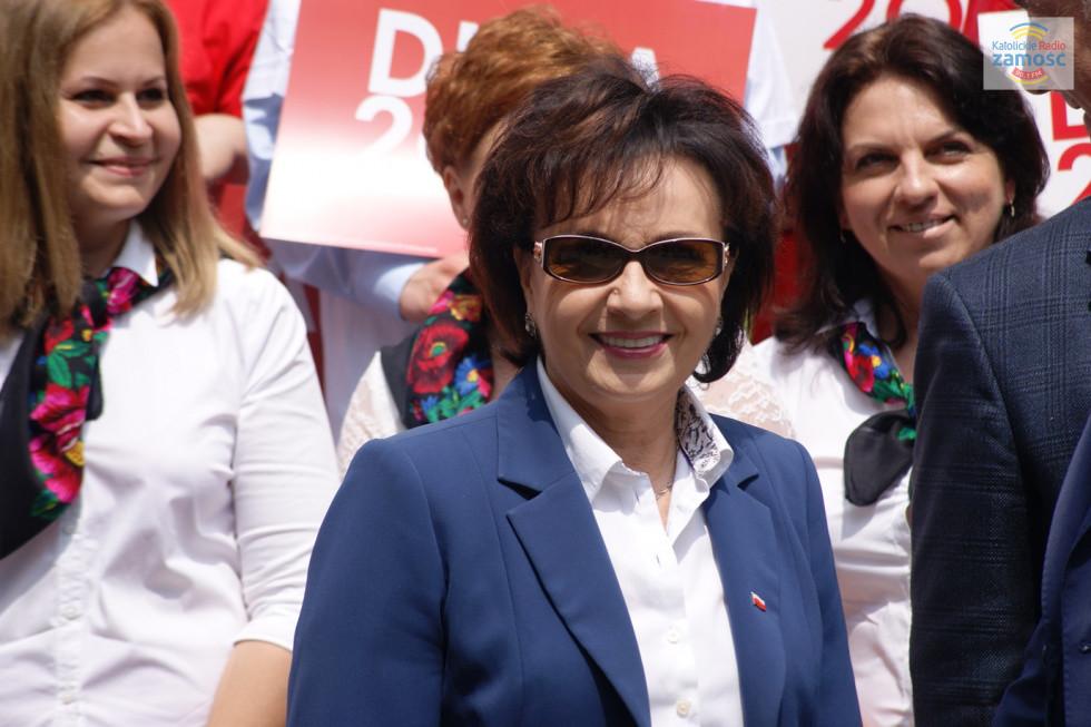 Marszałek Sejmu Elżbieta Witek w Tomaszowie