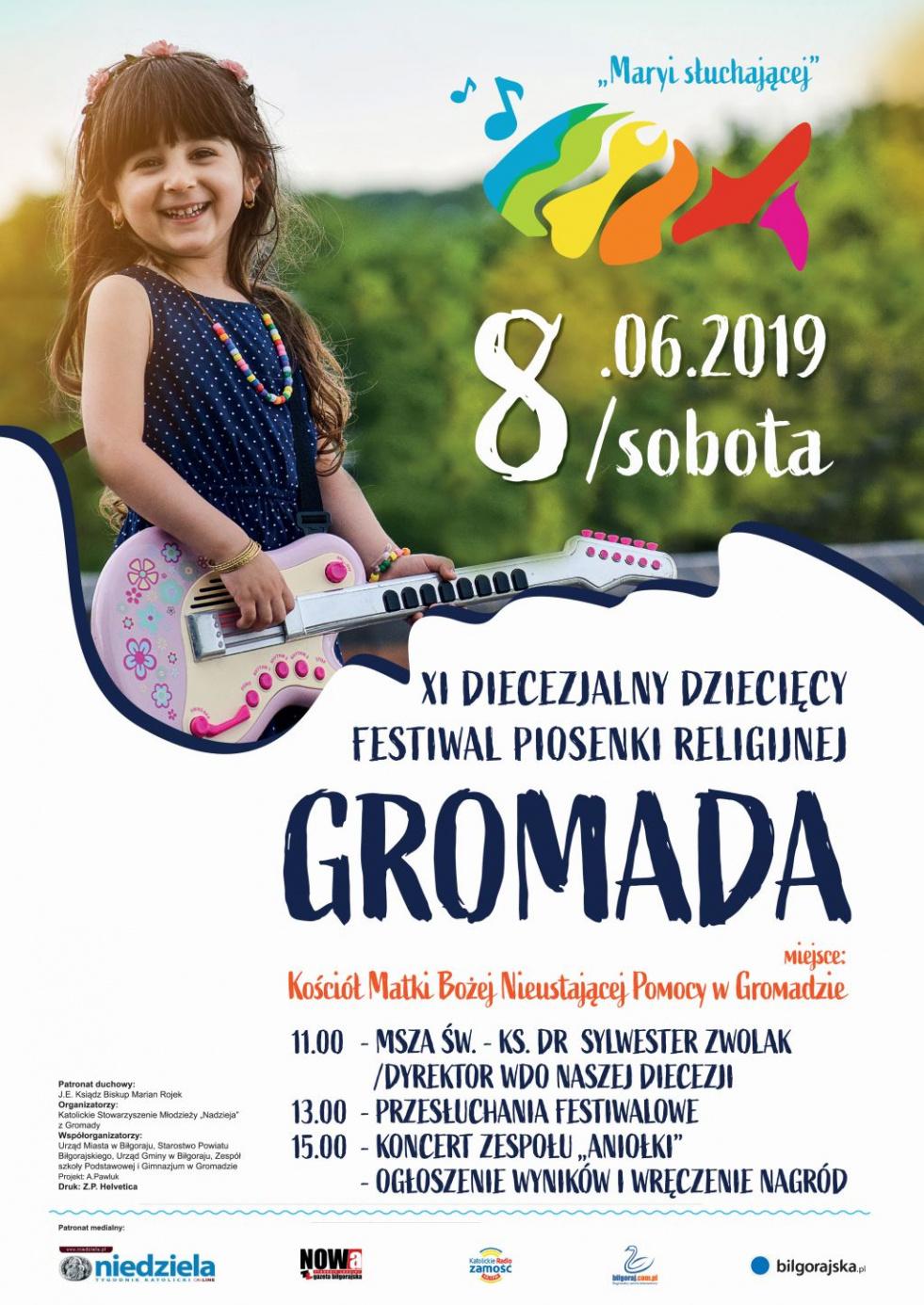 'Maryi Słuchającej' - XI Diecezjalny Dziecięcy Festiwal Piosenki Religijnej w Gromadzie