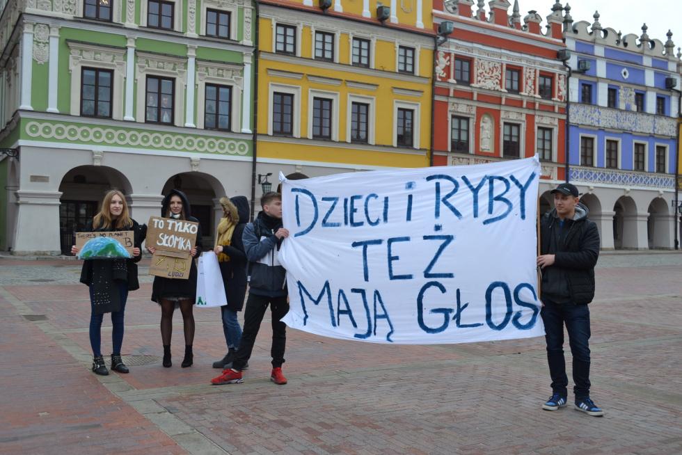 Młodziezowy Strajk Klimatyczny w Zamościu