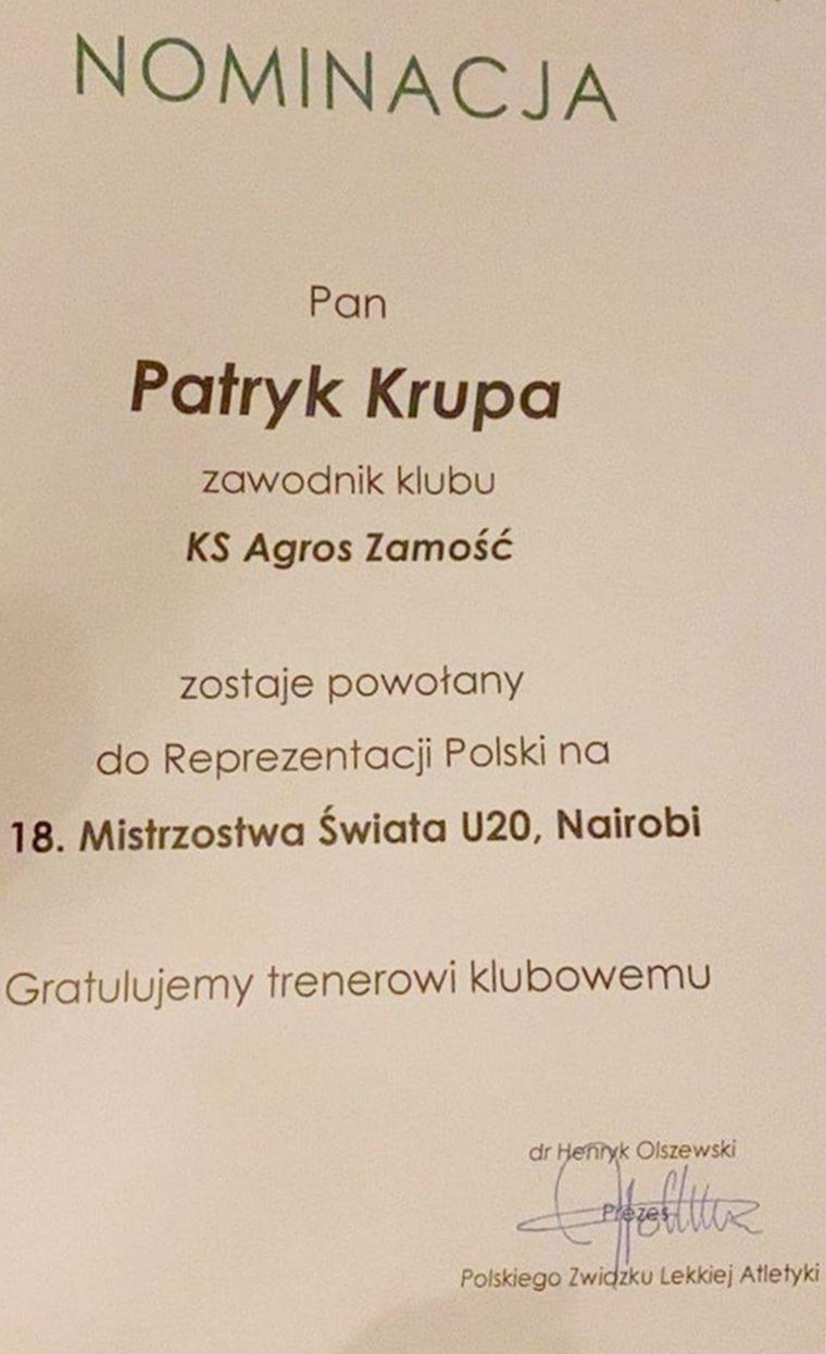 Monika Romaszko i Patryk Krupa powołani na MŚ w Kenii