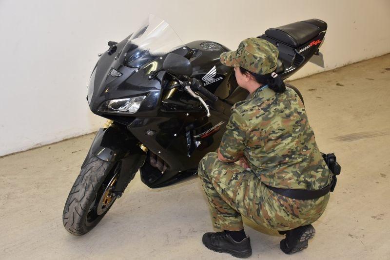 Na granicy zatrzymano motocykl