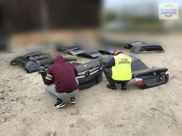 Odzyskano części samochodowe