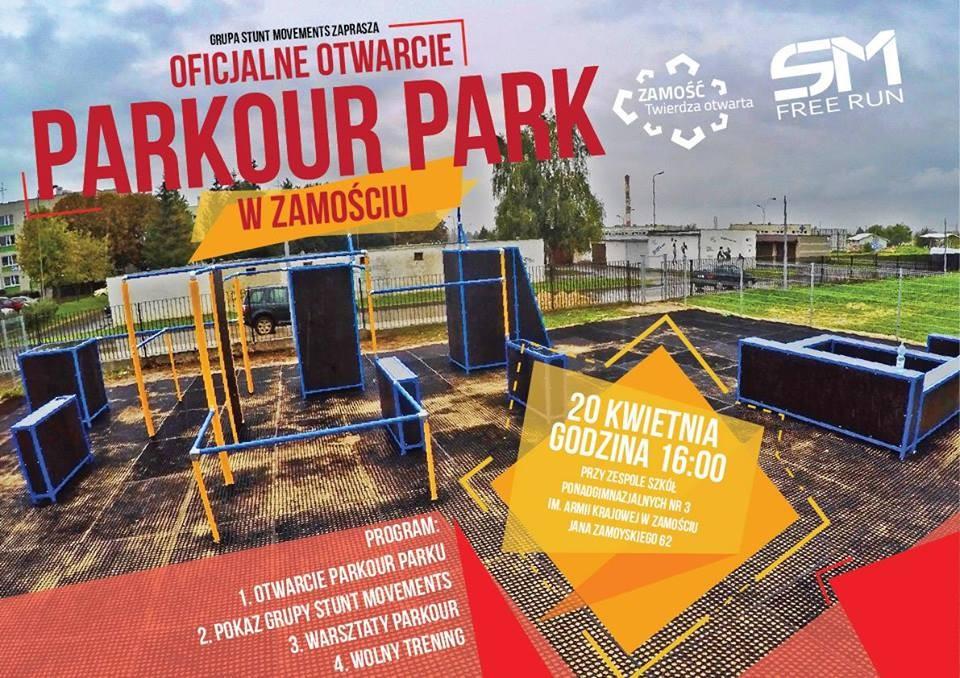 Oficjalne Otwarcie Parkour Parku w Zamościu