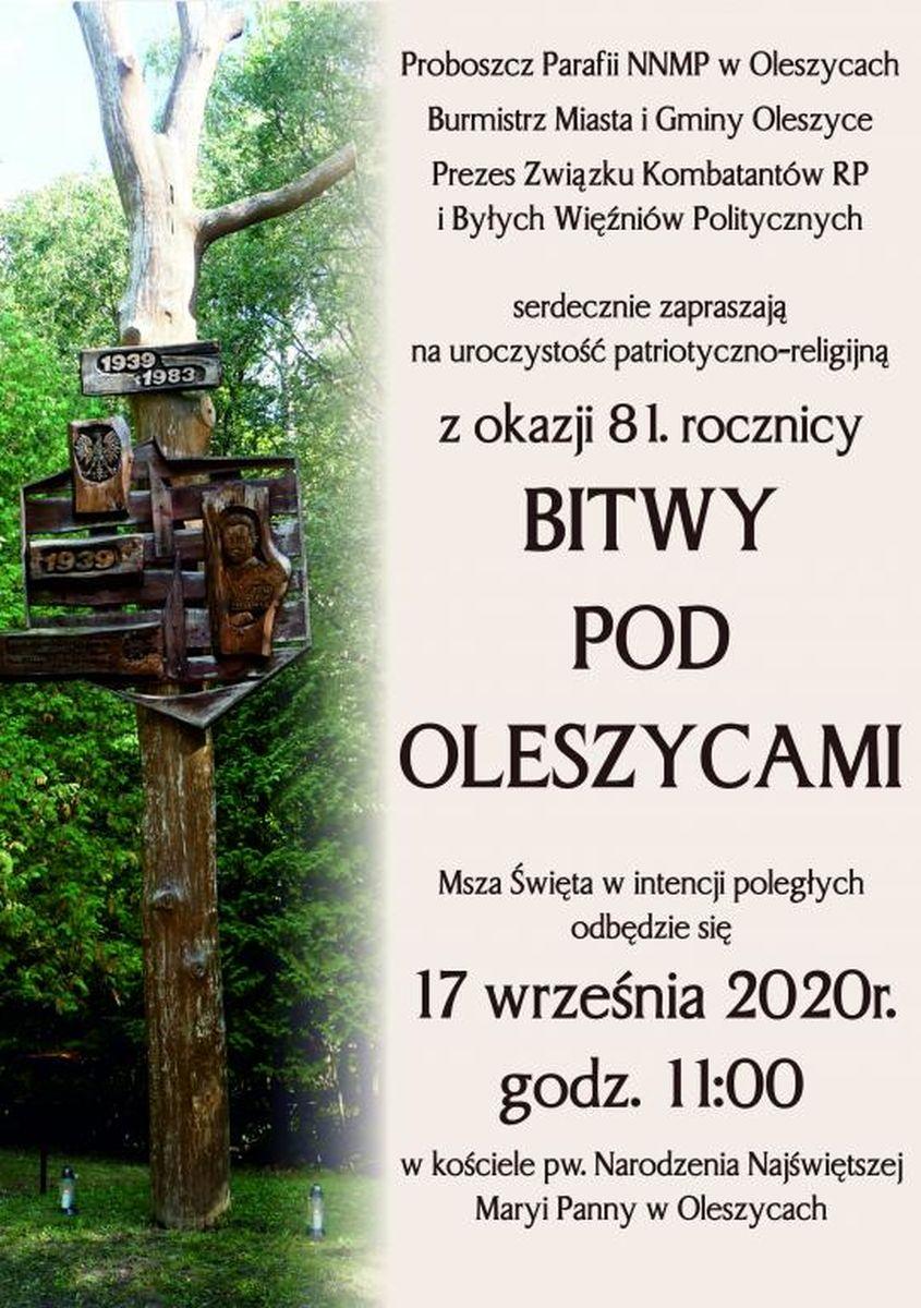 Oleszyce. 81. rocznica Bitwy pod Oleszycami