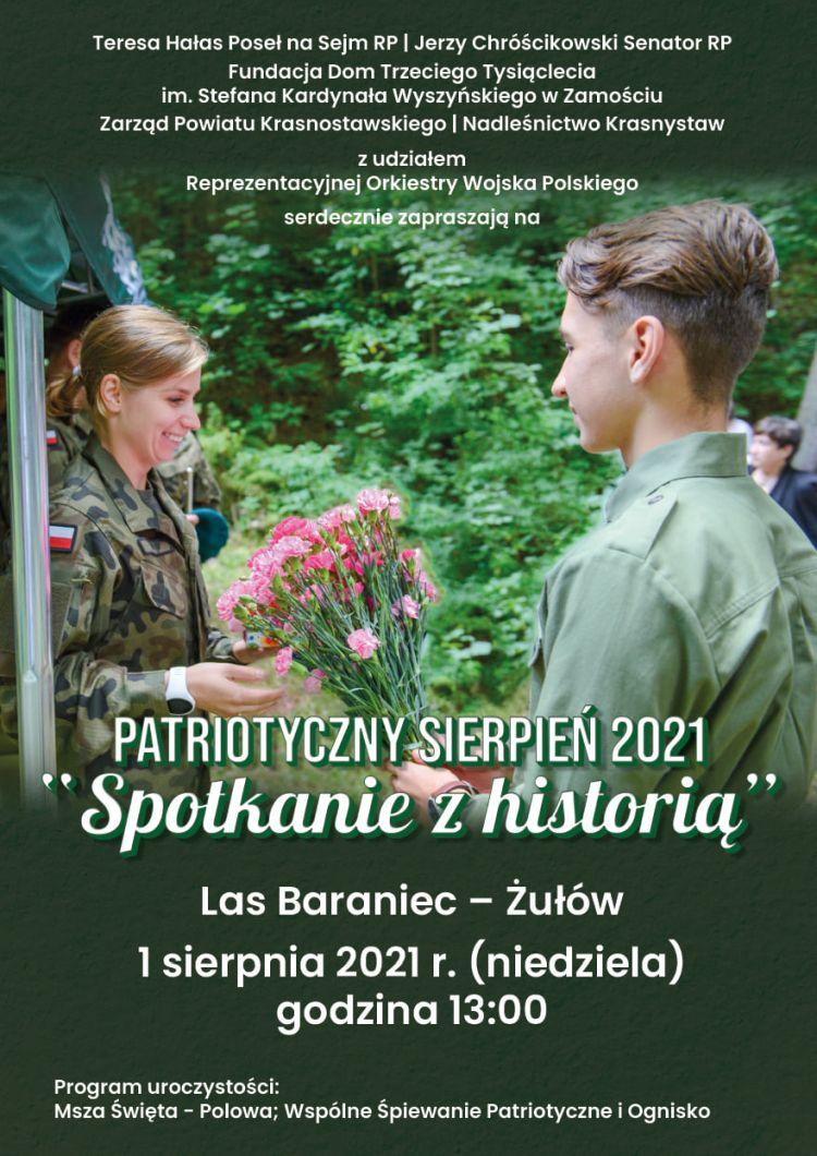 """Przed nami """"Patriotyczny Sierpień 2021 """"Spotkanie z historią"""""""""""