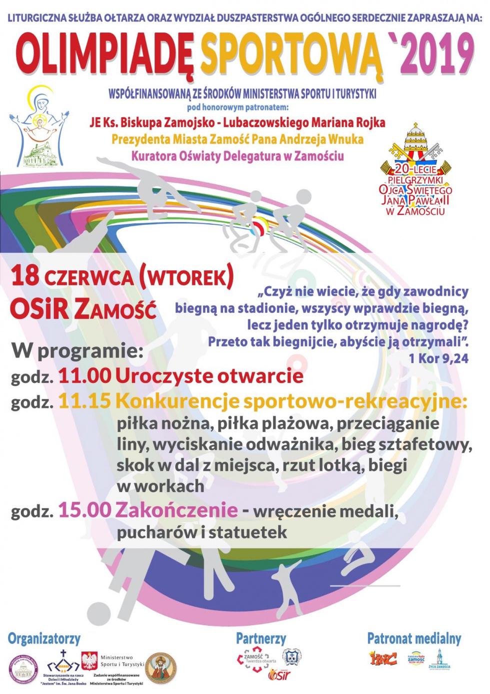 Pielgrzymka i Olimpiada LSO 2019