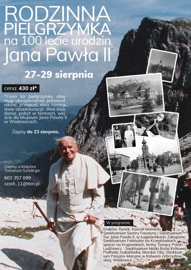 Pielrzymka z okazji 100. urodzin św. Jana Pawła II