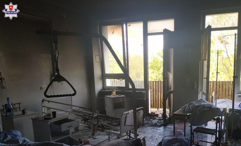 Pożar w szpitalu w Krasnymstawie