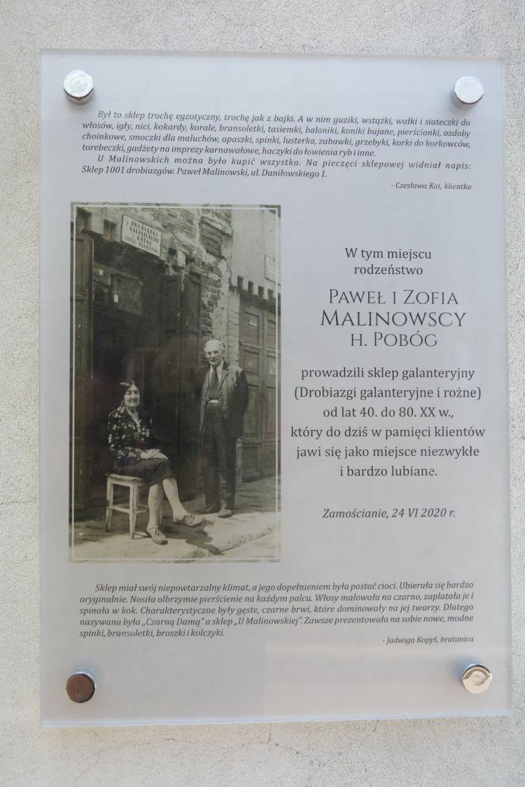 Prezentacja pamiątkowej tablicy