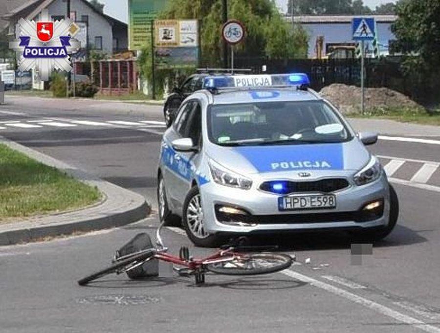 Rowerzysta potrącony przez kierowcę ciężarówki