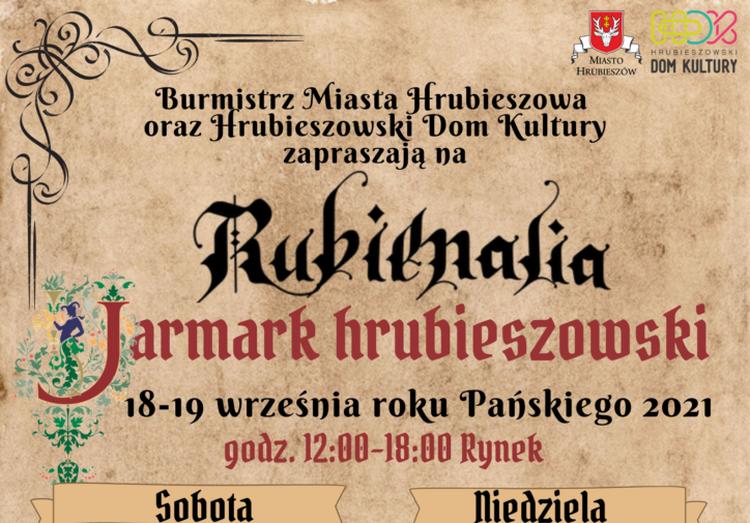 """""""Rubienialia – Jarmark Hrubieszowski"""" już od jutra"""