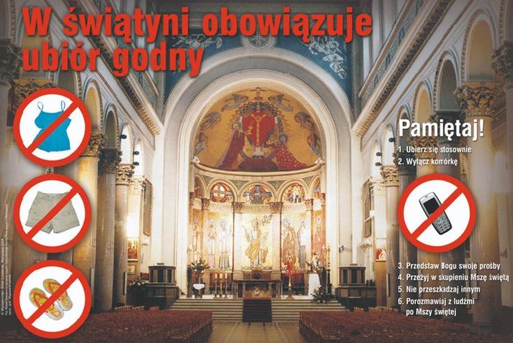 Savoir vivre w kościele