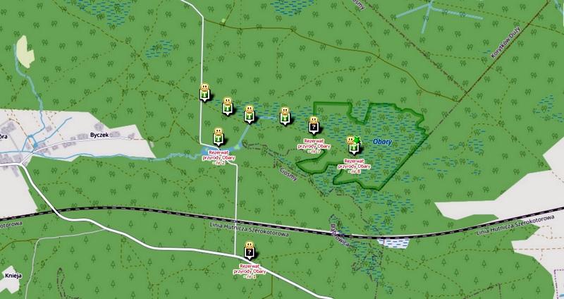 Ścieżka geocachingowa w Nadleśnictwie Biłgoraj