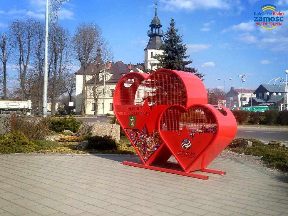 Serca na tomaszowskim rynku