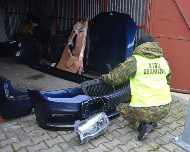 Skradzione części samochodowe