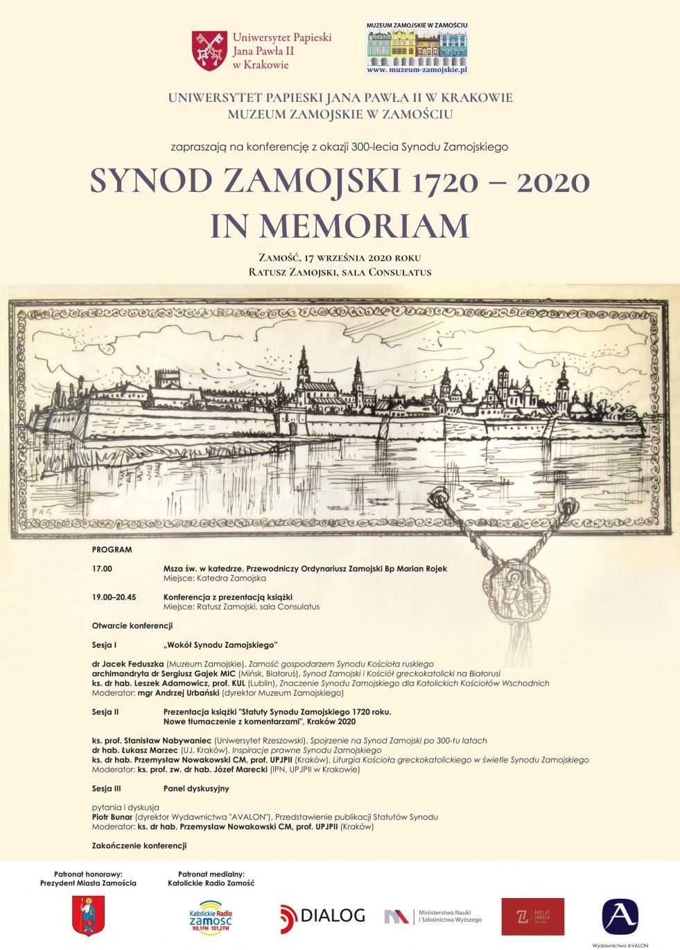 SYNOD ZAMOJSKI 1720 – 2020 IN MEMORIAM 17.09.2020 w Zamościu