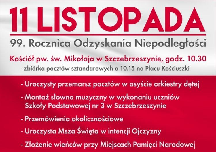 Szczebrzeszyn - obchody 99. rocznicy odzyskania niepodległości