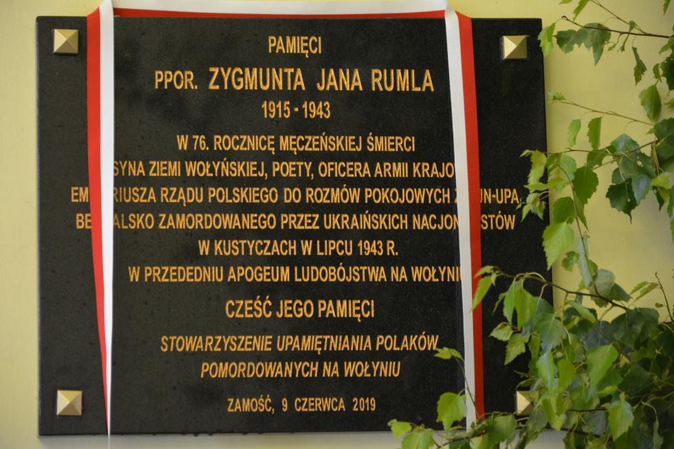 Tablica poświęcona Zygmuntowi Rumlowi