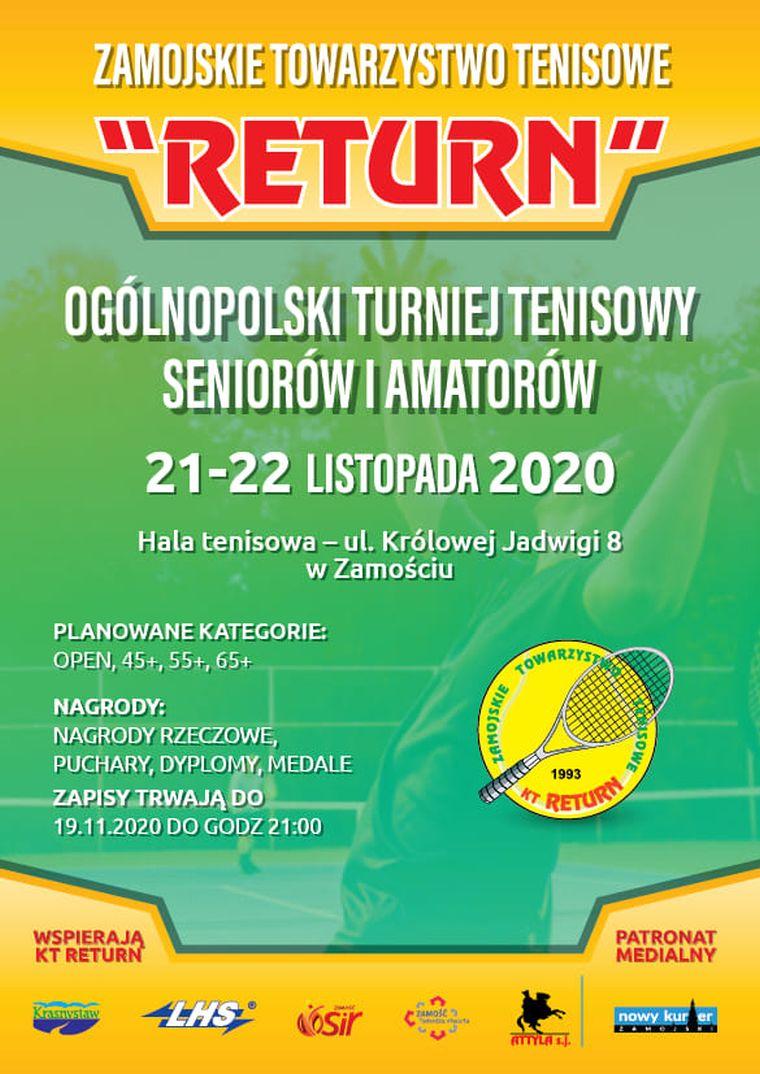 Tenisowy turniej dla dorosłych