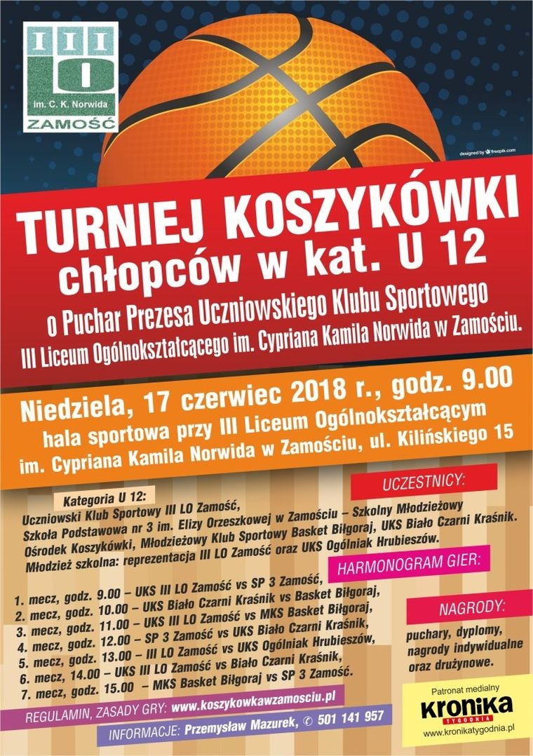 Turniej koszykówki chłopców