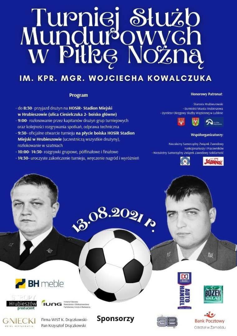 Turniej Służb Mundurowych w Piłce Nożnej im. kpr. mgr. Wojciecha Kowalczuka