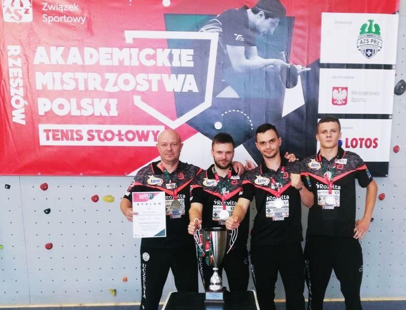 UPZ Akademickim Wicemistrzem Polski w tenisie stołowym