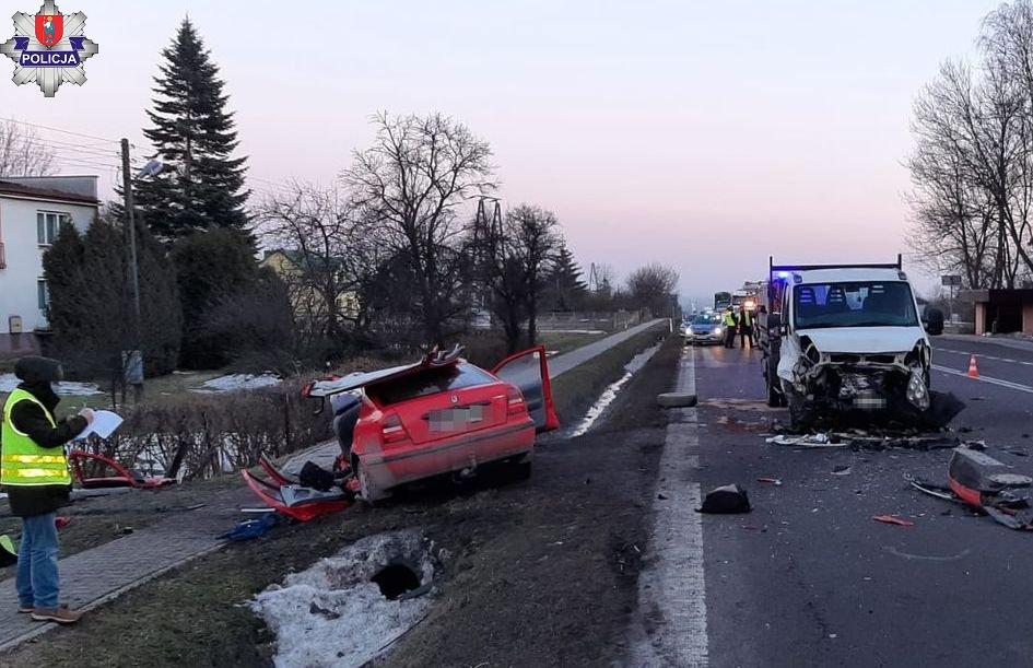 Wypadek w miejscowości Podkrasne