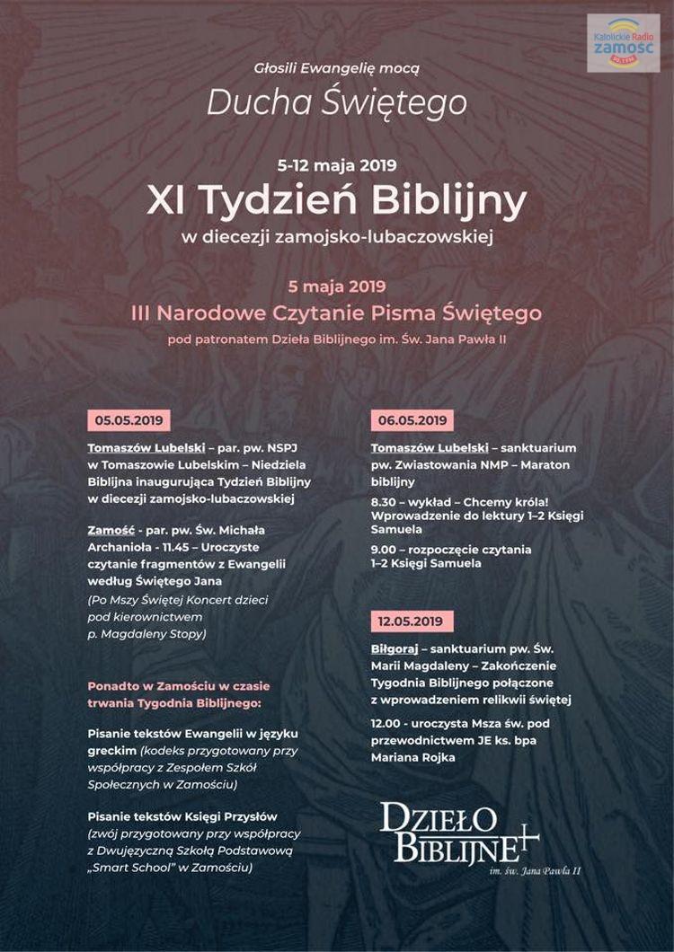 XI Tydzień Biblijny i IIII Narodowe Czytanie Pisma Świętego