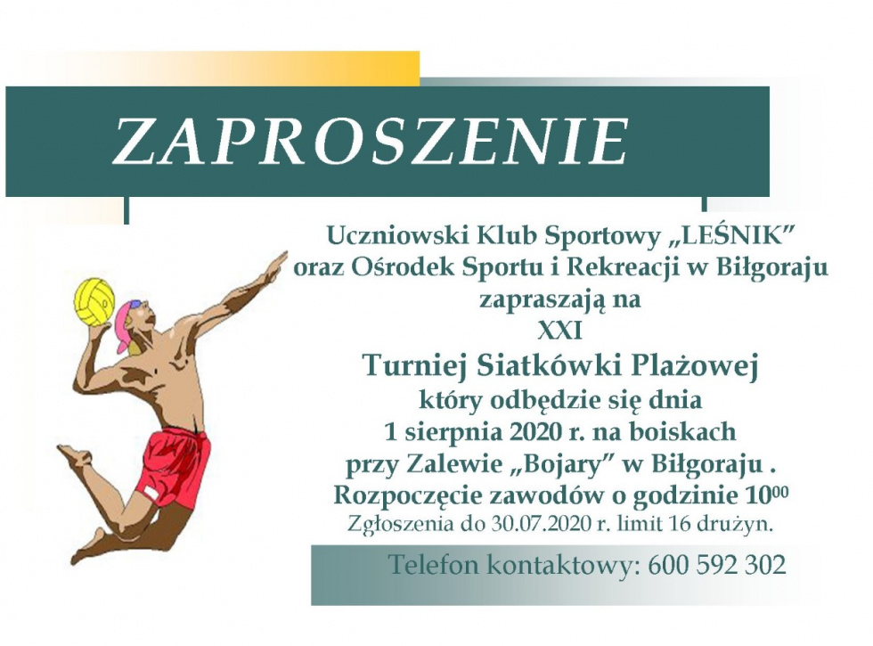 XXI Turniej Siatkówki Plażowej w Biłgoraju