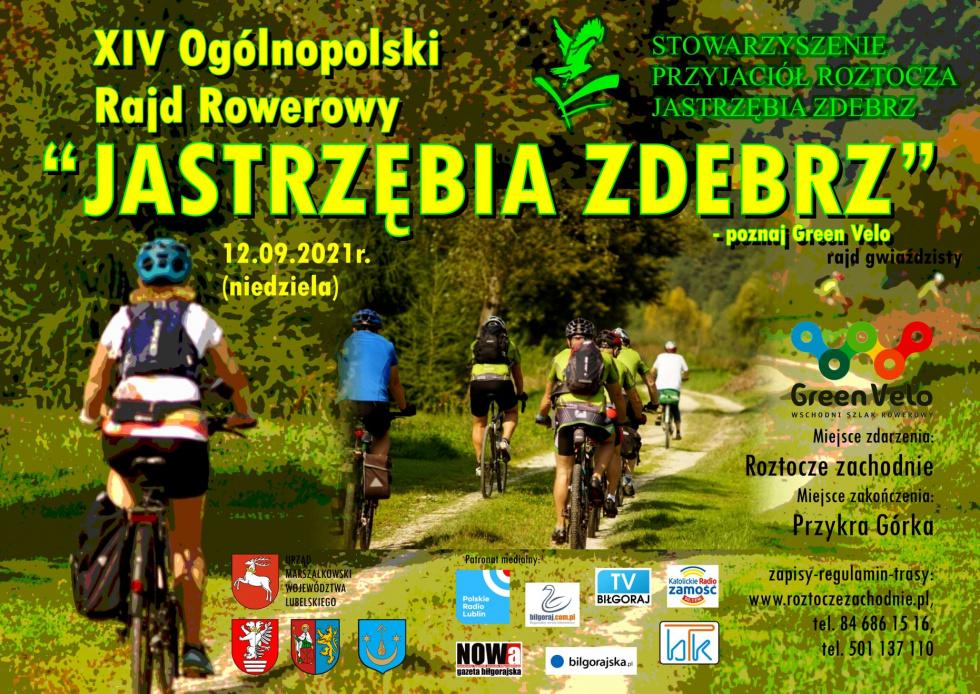 """Zapisy na Rajd Rowerowy """"Jastrzębia Zdebrz"""" 2021"""