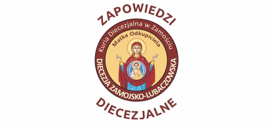 Zapowiedzi diecezjalne 17 maja