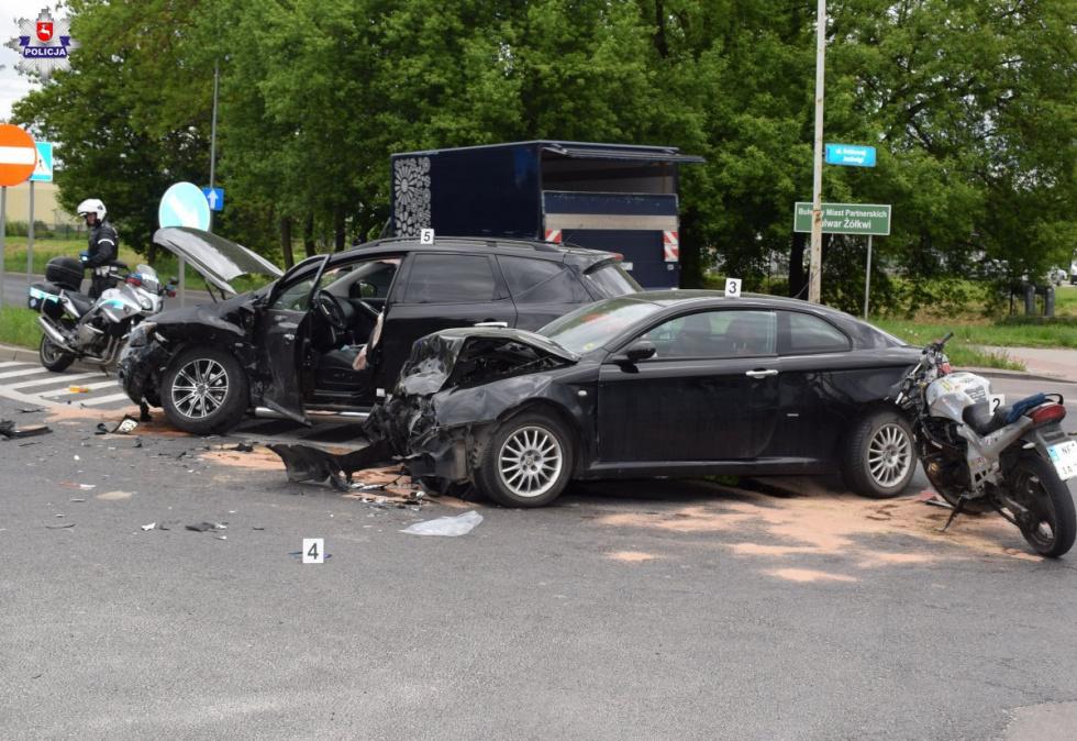 Zderzenie pojazdów na ul. Dzieci Zamojszczyzny w Zamościu