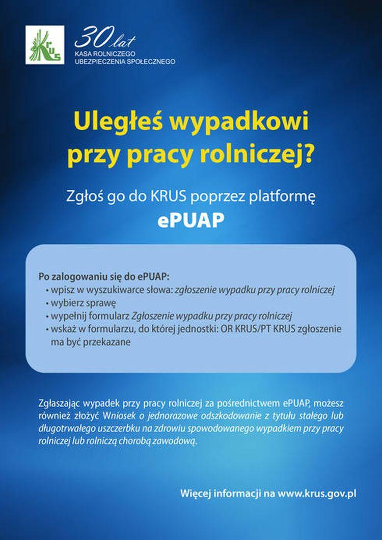 Zgłoszenie wypadku w rolnictwie teraz możliwe także przez ePUAP