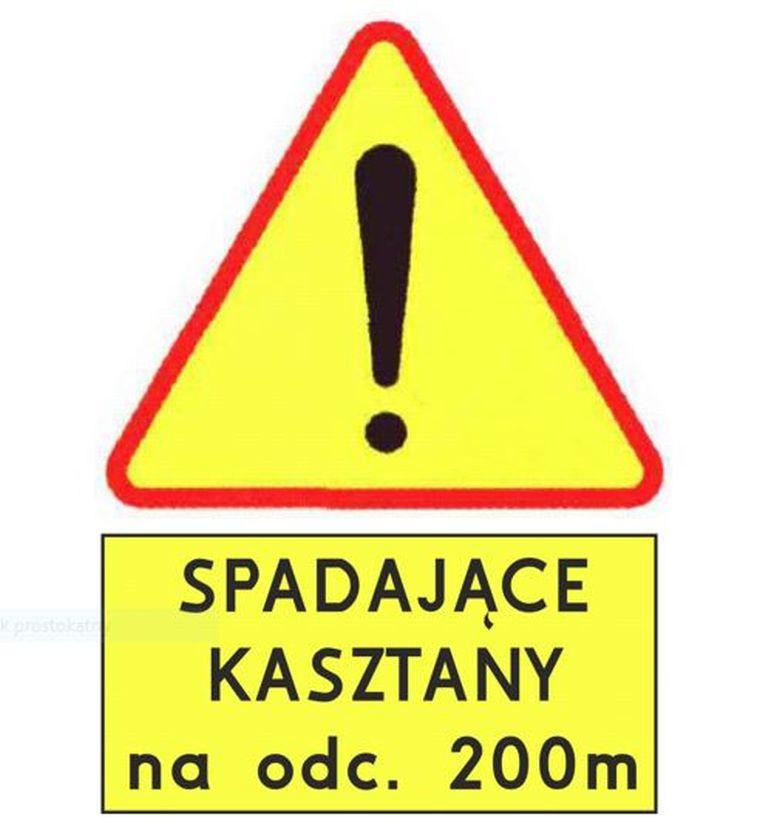 Znaki informujące o zagrożeniu